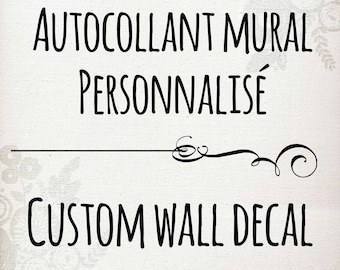 Customize your wall decal vinyl