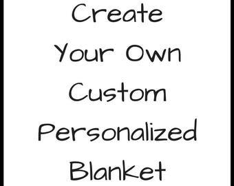 Custom Baby Blanket Personalized Baby Gift Personalized Blanket Personalized Baby Shower Gift Toddler Blanket Name Blanket Monogram Blanket