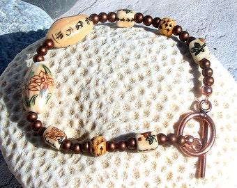Copper and Ceramic Bracelet,Jewelry