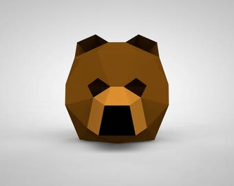 Bear Mask | Paper Mask | Papercraft 3D DIY Kit