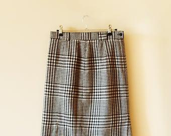 80's Houndstooth Skirt