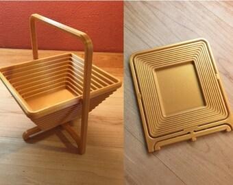 Foldable Basket / Fruit Basket / Fruit Bowl / Flower Basket / Gift Basket / Storage / Wedding / 3D Print / Collapsibe