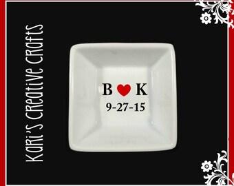 Wedding Ring Dish, Custom Jewelry Holder, Engagement Ring Dish, Personalized Ring Dish, Engagment Gift, Wedding Gift