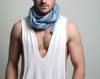 Mens Necklace, Husband Gift, Infinity Scarf, Boyfriend Gift, Mens Gift, Festival Clothing, Burning Man, Gift for Boyfriend, Gift for Husband