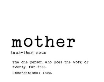 Framed Mother Print