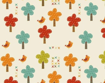 Giraffe Crossing Trees in Cream 100% Cotton by Riley Blake Sold by Fourth, Half, 3/4 or a YARD Sewing /Quilting /Applique/ Decorating