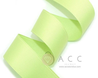 5Yards Cabbage Green Solid Grosgrain Ribbon - 5mm(2/8''), 10mm(3/8''), 15mm(5/8''), 25mm(1''), and 40mm(1 1/2'')