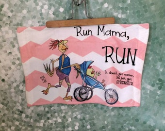 Workout Towel Inspiration Run Mama RUN jogging stroller strong mom Fitness 11x18