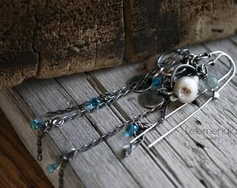Earrings Sterling Silver Pearls Gemstones Letemendia Jewelry Handmade