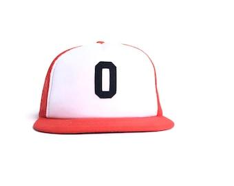 Vintage Zero Orange Mesh Snapback Hat Number 0