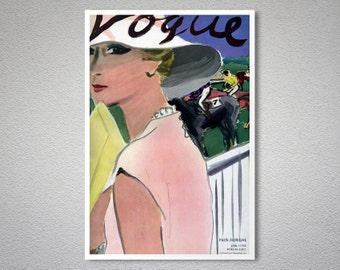 Vogue Cover, April 1933  Vintage Poster - Poster Print, Sticker or Canvas Print / Gift Idea