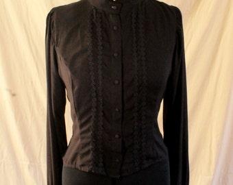 Black Long-sleeved Lolita Blouse