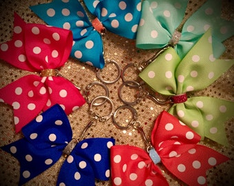 Polka Dot Bow Keychain BUY 2 GET 1 FREE Squad Discounts