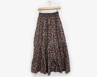 Floral Maxi Skirt Prairie Style S