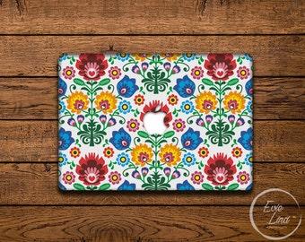 Floral Print Macbook Decal / Macbook Sticker / Stickers macbook pro / Macbook Air Sticker / Macbook Air skin / Laptop decal / EL018