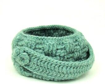 Basket Crochet Pattern - Springtime DIY Home Decor - Basketweave Bowl Pattern - Advanced Crochet - PDF Pattern