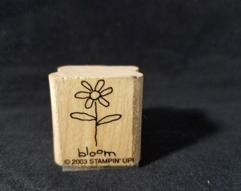 Bloom Flower  Used Rubber Stamp View all Photos