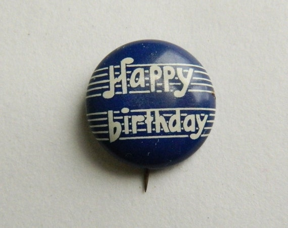 Vintage Happy Birthday Pinback Button David Cook Publishing
