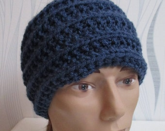 blue wool, shake head wool blue, blue wool ear warmer, headband blue headband, man, man, father's day gift