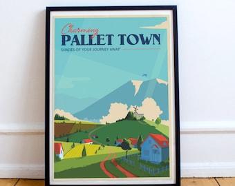 Pokemon Pallet Town | Travel Poster  Unframed