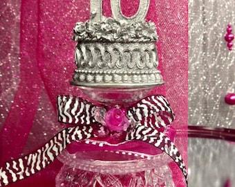 Sweet 16 Centerpiece or Cake Topper Favor Table Decoration Keepsake