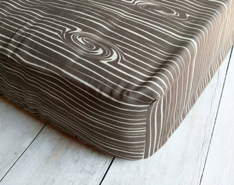 Tree Bark Fitted Crib Sheet