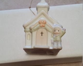 Vintage Precious Moments Church Ornament