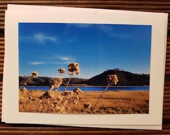 Lagoon scene greeting card, blank card, nature photography