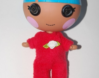 "Red Footie Pajamas - Lalaloopsy Littles 7"" doll clothes - tkct481"