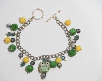 Owl Always Sparkle beaded bracelet
