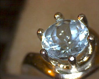 Stunning Colorado Blue Topaz Ring