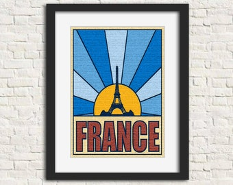 France: The Places You Go - Wall Art, Instant Download, Printable Art, Modern Art, Wall Decor