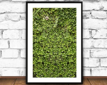 GREENERY Wall Art, Green Room decor, Green Wall, Security Camera, Living Wall, Living Room, Poster, Printable, Wall art, Green Leaves, LARGE