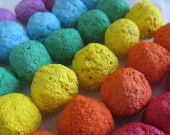50 Rainbow seed bombs- 6 color combo