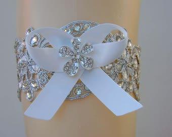 Wedding Garter, Bridal Garter, Toss Garter, Lace Garter, Rhinestones