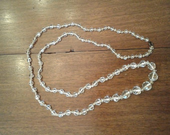Crystal beaded long necklace