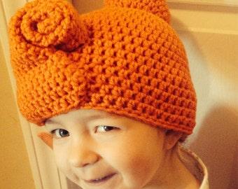 Crochet Wilma Flintstone inspired hat