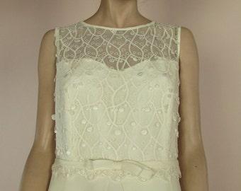90's Vintage Wedding Dress - Very nice elegant ivory wedding dress from the 1990s