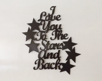 I love you to the stars and back-10x12