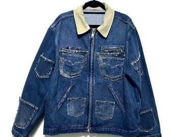 Dark blue denim workers jacket (XTRA LARGE)