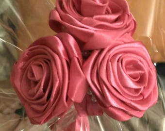Bouquet of Roses in satin