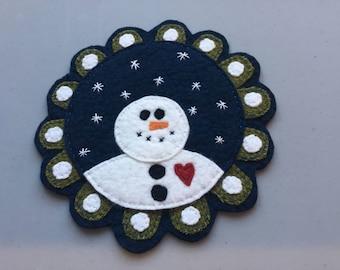 Snowman Table Mat