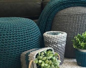 Crochet Pouf Stool Pattern/ Pouf stool Cover Pattern/ Handmade stool/ Wool pouf stool/ Acrylic pouf stool/ Floor pouf stool/ Crochet stool