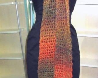 Mens Extra Long Scarf, 114 x 5, Chunky, Neckscarf, Multi Color, Colorful, Steampunk, Bohemian, Handmade, Retro, Womens, Spring, Easter