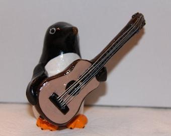 Guitar Penguin Figure
