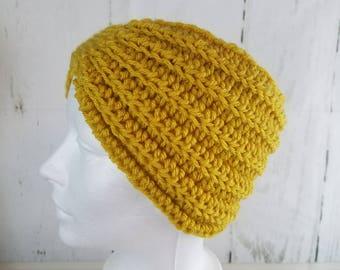 Evie Ear Warmer.Ready to Ship//MUSTARD YELLOW Ear Warmer//Crochet Warmer//Headband//Ribbed Ear Warmer//Head Wrap