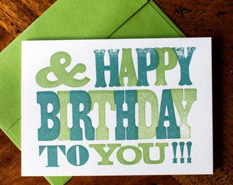 And & Happy Birthday to You!!! - Card