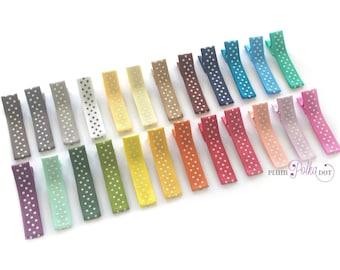 Choose 3, Ribbon Hair Clips, Baby Girl Hair Clips, Polka Dot Clip, Toddler Girl Hair Clips, No Slip Hair Clip, Baby Clips, Hair Clippies