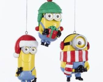 Minions  Minions Ornament  Personalized Christmas Ornament  Each Sold Separately