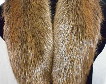 Real Beaver  fur Collar detachable Women Men new  made in usa